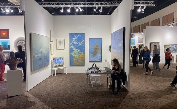 Tania's booth at Art Palm Springs 2020