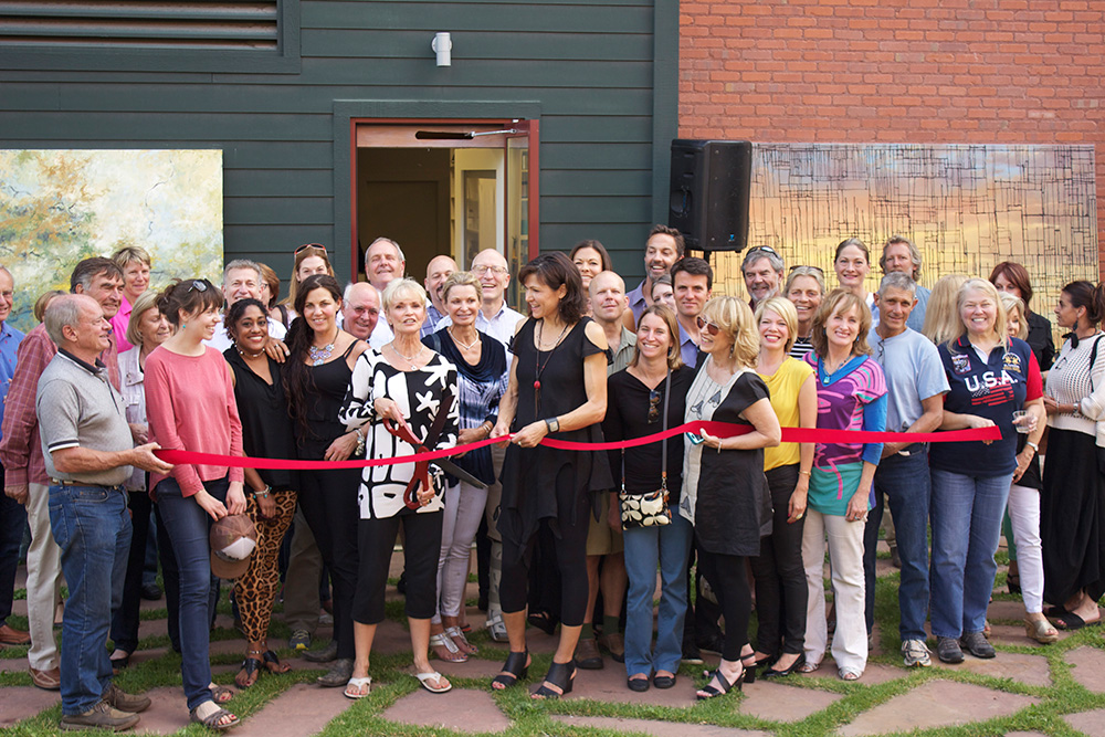 grand opening of studio in Basalt
