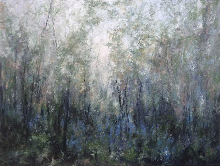 "Amenia Swamp 2, 36"" x 48"", oil"