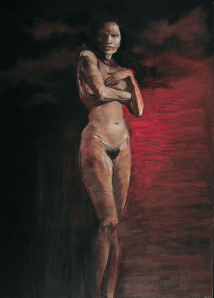 "Bittersweet Surrender, 48"" x 36.5"", oil"