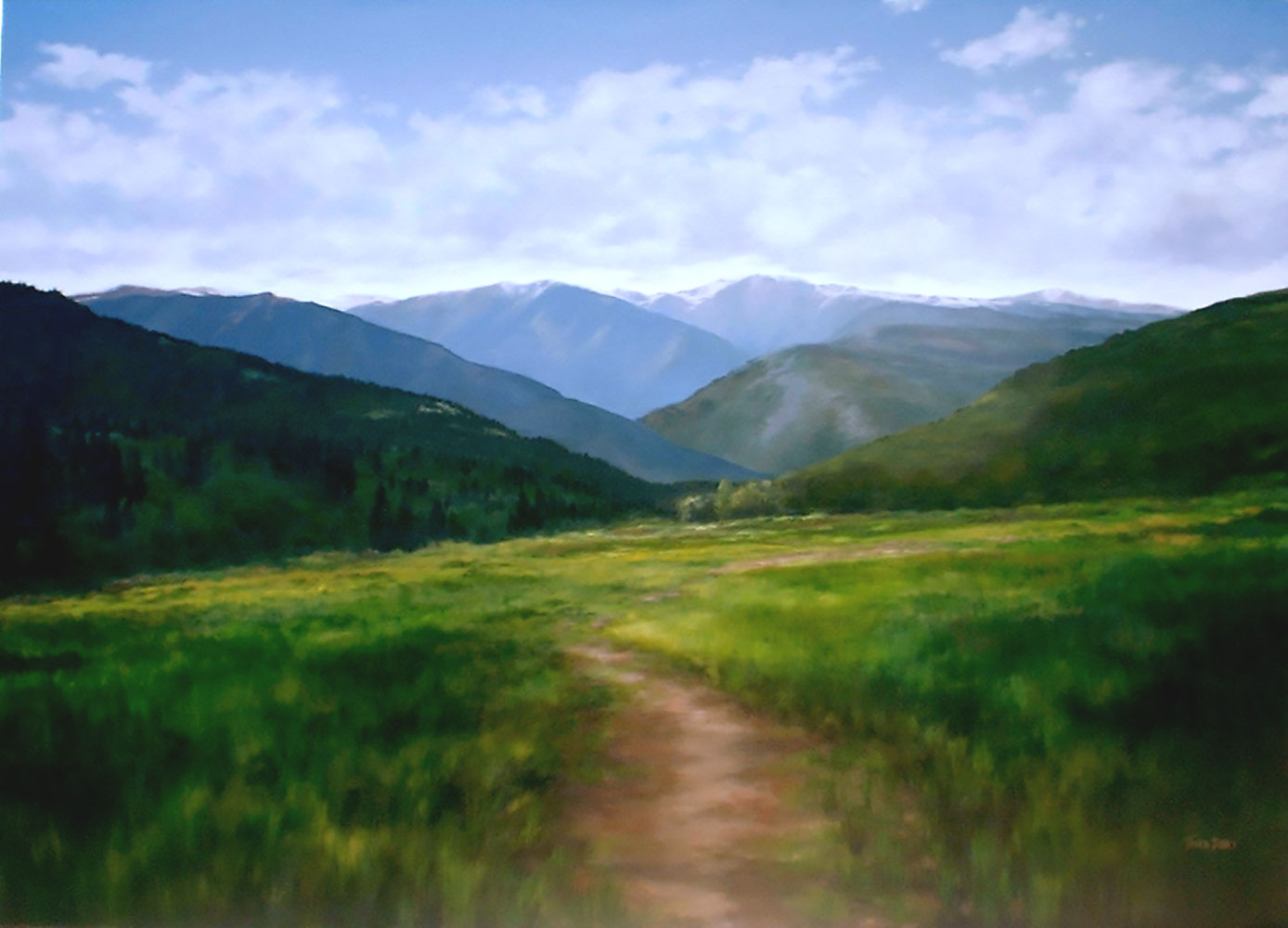 "Colorado Bright, 60"" x 84"", oil"