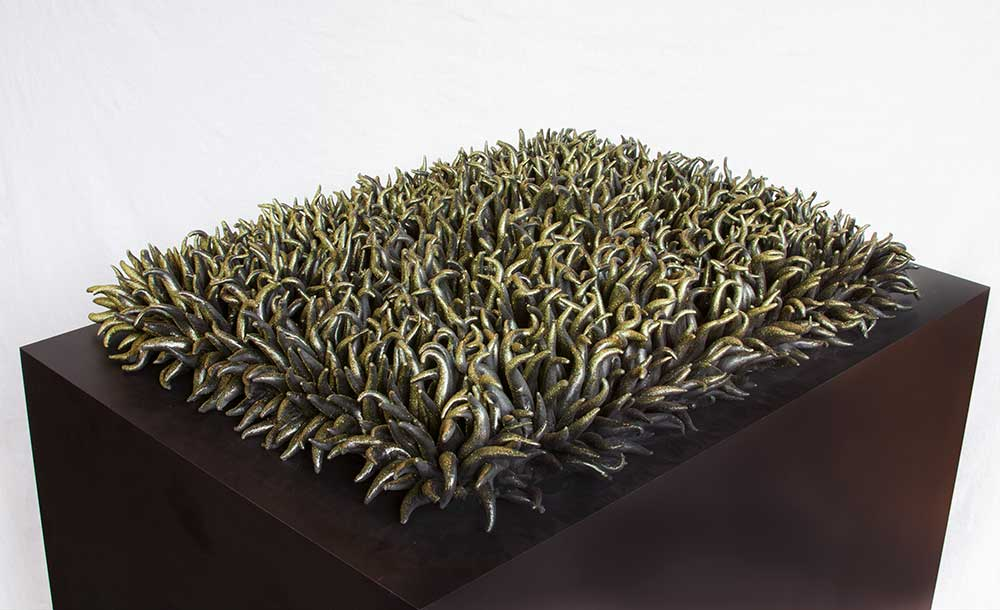 "Greenwash, 21"" x 32"" x 3"" , resin"