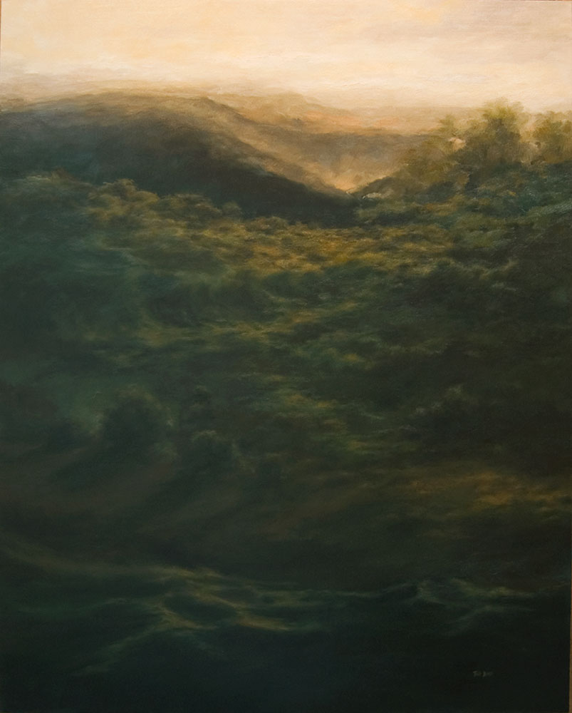 """Life of Life, 60"""" x 48"""", oil"""