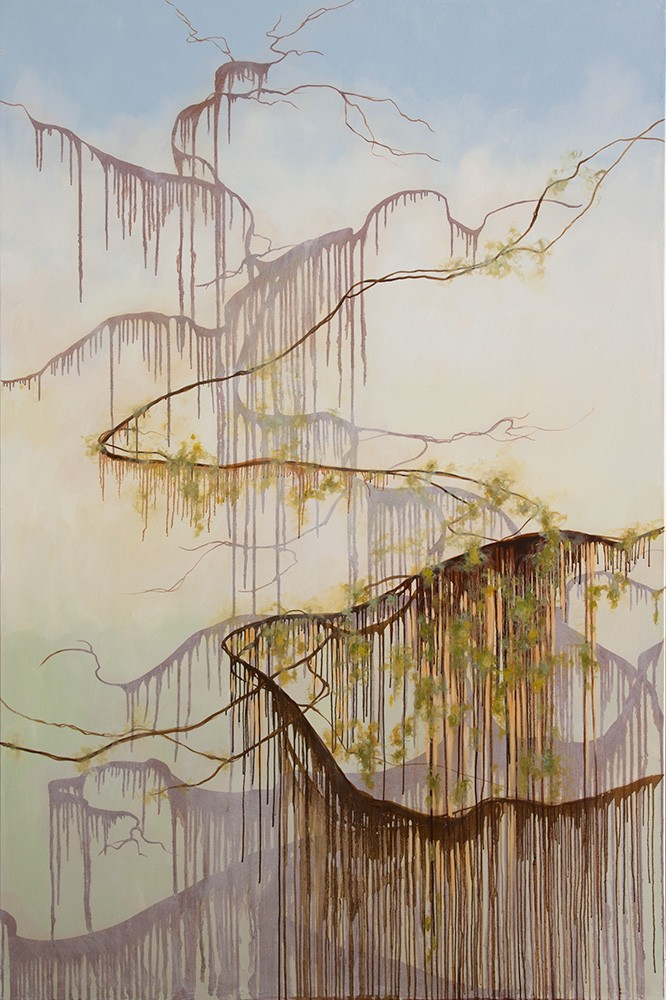 "Rise and Fall, 109"" x 72"", oil"