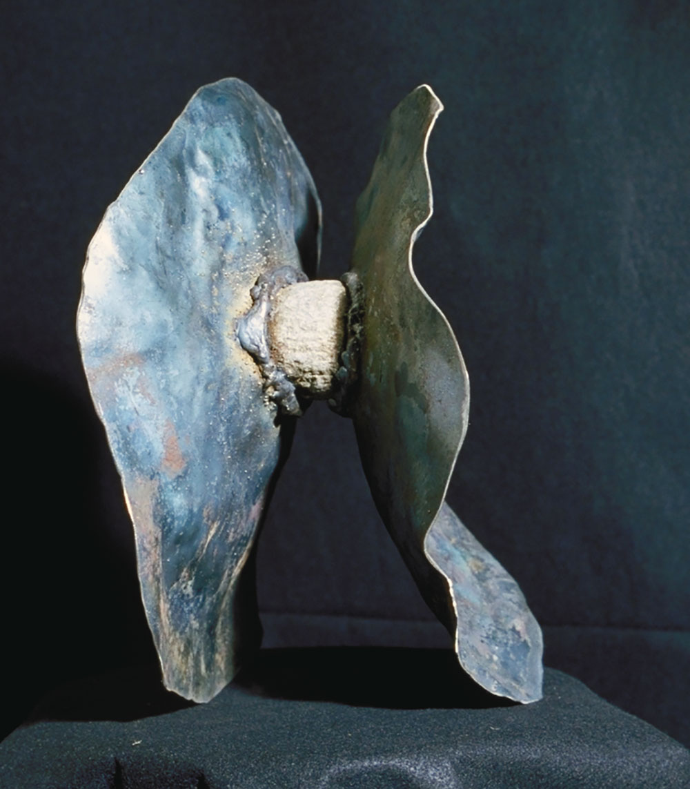 """Sea Form, 14.5"""" x 14"""", sculpture (sold)"""