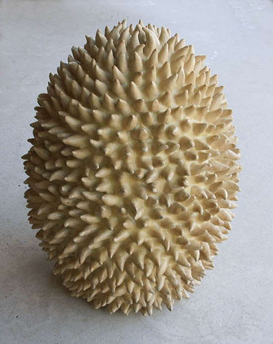 "Spiked Spore, 18.5"" x 10.5"", stoneware (sold)"