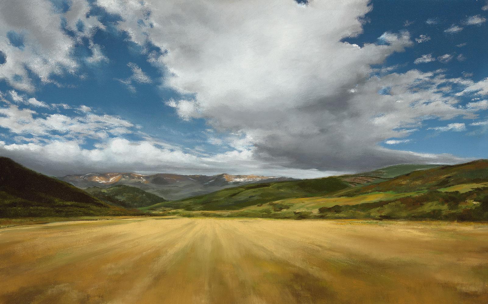 """Summer 95 (McBride's Field), 20"""" x 32"""", oil"""