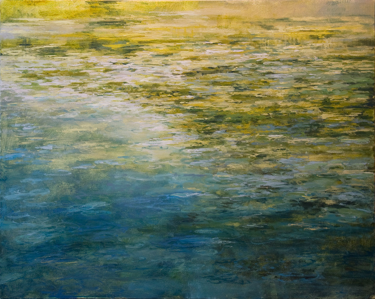 "wish pond, 48"" x 60"", oil"