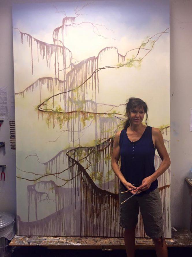 Tania painting